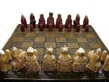 A Very interesting isle of lewis chess set chessmen game pieces - perfect