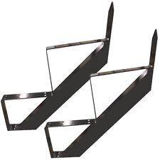 2 Stufen Treppenrahmen Stahl-Treppenwange Treppenholm Geschosshöhe 34cm Grau