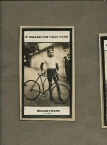 FRIEDRICH DICKENTMANN OF GERMANY CYCLING 1900S TRADE CARD