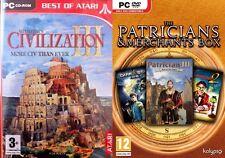 Civilization 3 & Patrician III & Great Art Race & dark star one  new&sealed