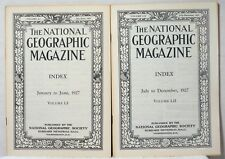 1927 Complete NATIONAL GEOGRAPHIC MAGAZINE INDEX Articles Reference