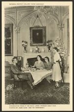 Conversation Piece at the Royal Lodge, Windsor Great Park - Printed Postcard
