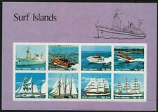 SURF ISLANDS - 'SHIPS & BOATS' Imperf Miniature Sheet MNH [6779]