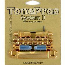 TonePros METRIC Pre-Notched Bridge & Tailpiece Set - GOLD LPGM02-GLD