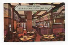 Linen Postcard,Hotel Woodstock,Woodstock Tap Room and Lounge,New York City,N.Y.