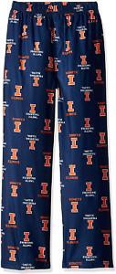 Illinois Fighting Illini Lounge Pants Boys 4-7, Size: Small (4),  Retail $26.00