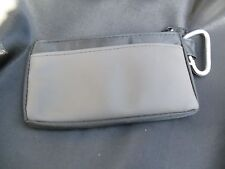 key chain zipper mini coin purse with pockets on both sides,