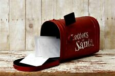 Primitive Aged Mail Box`Letters To Santa` North Pole` Life Size` Christmas`