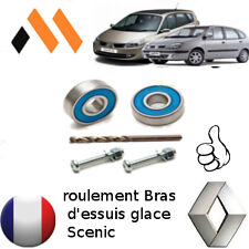 KIT REPARATION  ROULEMENT BRAS ESSUIE GLACE PARE BRISE RENAULT (GRAND) SCENIC 2