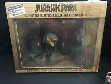 Jurassic Park Limited Edition Blu Ray Trilogy With T-Rex Statue