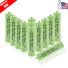 12x Triple A 1.2v NICD 600mAh AAA Rechargeable Batteries for Garden Solar Light