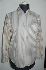 WOMENS SIZE MEDIUM LAUREN RALPH LAUREN COTTON LONG SLEEVE BUTTON DOWN SHIRT NICE