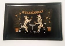 Vtg Mid Century Modern Couroc of Monterey French Bistro Poodle Serving Tray