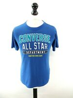 CONVERSE Boys T-Shirt Top 12-13 Years L Large Blue Cotton