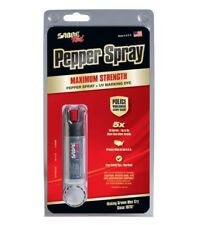 Sabre Red Pepper Spray and UV Marking Dye KR-14-OC Black USA Made Key Ring