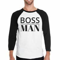 Boss Family Mens Black And White BaseBall Shirt