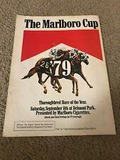 Vintage 1979 MARLBORO CUP HORSE RACING Poster Print Ad SPECTACULAR BID RARE