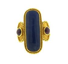 Ilias Lalaounis Greece 18k Gold Ruby Hardstone Ring