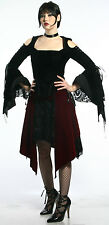 LIP SERVICE - REQUIM FOR THE DEATH II - FATALITY RATE SKIRT - SOLID BLACK - XL