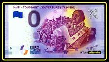 Billet Touristique Souvenir 0 Euro - HAITI - TOUSSAINT L'OUVERTURE 2019