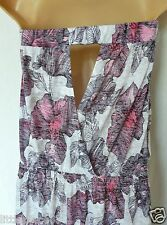 BNWT NEXT summer  pink print open back boob tube maxi sun dress beach cover  8