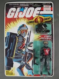 ORIGINAL VTG MOC 1985 GI Joe Cobra Frogman Eels Scuba Diver v1 Factory SEALED NR