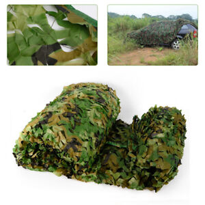 Polyester Fabric Camouflage Netting 8M*8M Camo Net Hunting w/ String Backing USA