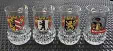 FiYe Italy 4 Heavy Cut Glass Beer Steins Berlin Heidelberg Nurnberg Schultheiss