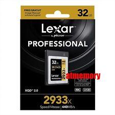 Lexar 32GB XQD 2.0 Memory Card 2933x Professional 4K Read: 440MB/s