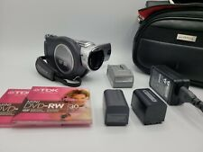 Sony Dcr-Dvd405 Camcorder - Silver - 2 Batteries - 2 Chargers - 2 Discs Working