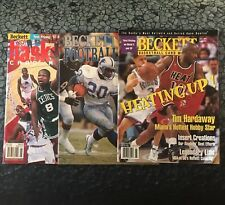 Lot of 3 Beckett Football Basketball Monthly Magazine Price Guide 1997 1998 1990