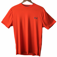 Under Armour UA Men's NWOT T- Shirt Orange Crew Neck Loose Heatgear Size MD