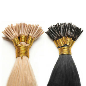 """STICK TIP/I TIP 1G REMY REAL HUMAN HAIR EXTENSIONS SHADE #33 16"""" ITIP STRAIGHT"""