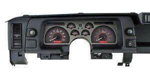 1990-92 Chevrolet Camaro Dakota Digital Carbon Fiber & Red VHX Analog Gauge Kit