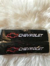 Us Stock 2pcs Cheverlot Embroidered Seat Belt Shoulder Pad Covers/High Quality