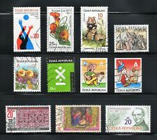 Czech Republic -- 11 diff used commemoratives from 2010-12 -- cv $8.70