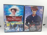 Mary Poppins & Mary Poppins Returns Disney DVD Bundle