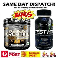 Muscletech Platinum 100% Pure Creatine 400 g + Muscletech Test HD 90 Caps Stack