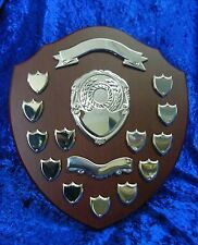"Classic Wood 14"" Shield Award Golf, School Presentation, Lawn Bowls, Football"