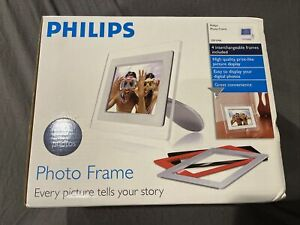 """NEW PHILIPS Clear Photo Frame 7FF1M4 7"""" Digital Picture w/ Red Black Gray White"""