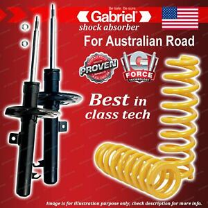 Front Gabriel Ultra Strut Shocks + STD King Coil Springs for Ford Focus LS LT