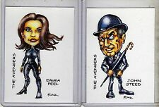 AVENGERS TV SERIES (2 CARDS) ART PRINTS DIANA RIGG PATRICK MACNEE MRS PEEL RAK