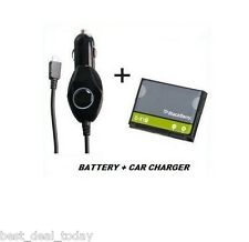 OEM Blackberry D-X1 Battery+Car Charger For Storm 9550