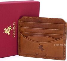 Cards Wallet Real Soft Leather Oak Brown New in Gift Box Visconti Model DR25