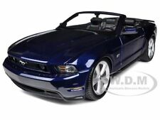 2010 FORD MUSTANG GT CONVERTIBLE DARK BLUE 1/18 DIECAST MODEL BY MAISTO 31158