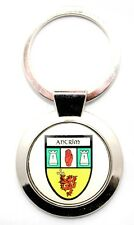 Irish Round Metal Bag Purse Keyring Charm Antrim County Crest Shield