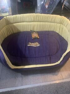 Dog /puppy Deluxe Oval Pet Bed /Travel Bed XL