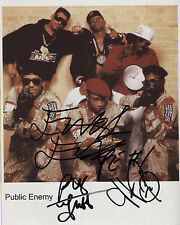 Public Enemy (Band) Signed Photo Genuine In Person Chuck D Flavor Flav Griff