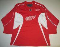 NHL Hockey VTG Detroit Red Wings Sewn Jersey Youth Boys Kids XL 18-20 Reebok RBK