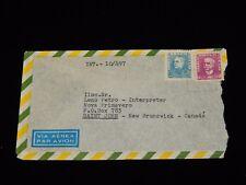 Vintage Cover, SAN PAULO, BRAZIL, Definitive, Airmail, Sent Saint John, NB, 1956